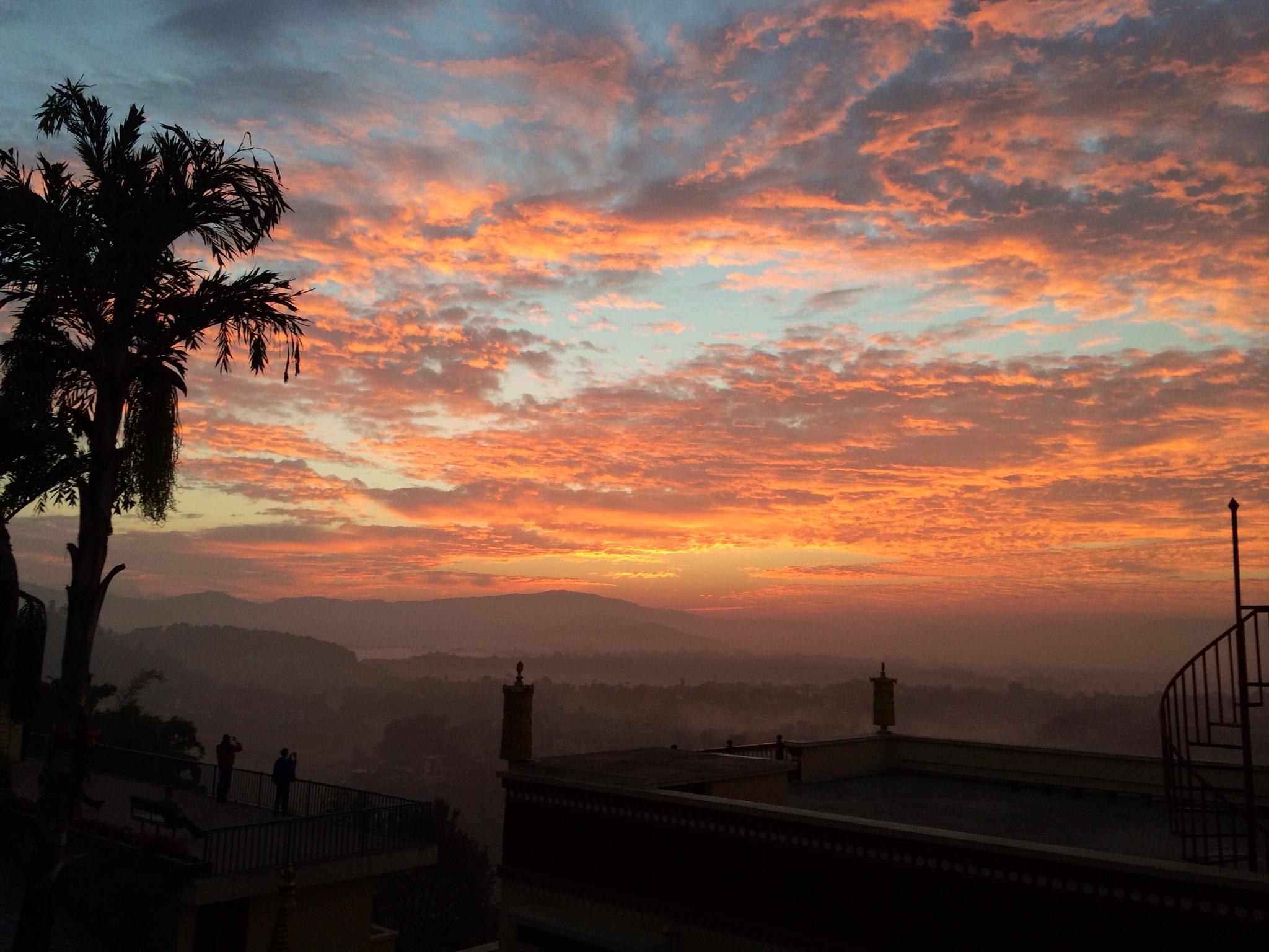 En smuk solopgang…